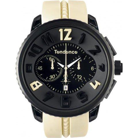 テンデンス 腕時計 ガリバーラウンド クロノグラフ 02046022 ブラック×クリーム