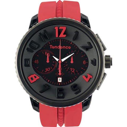 テンデンス 腕時計 ガリバーラウンド クロノグラフ 02046021 ブラック×レッド