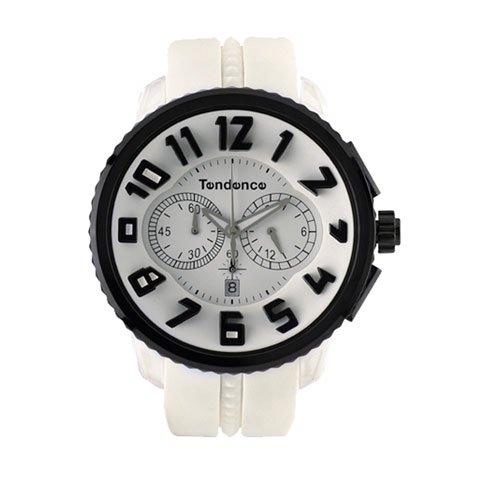 テンデンス 腕時計 ガリバーラウンド クロノグラフ TD02046017 ホワイト×ブラック