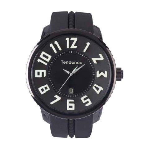 テンデンス 腕時計 ガリバーラウンド TD02043020 ブラック×スモークガラス