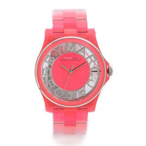 マークバイマークジェイコブス 腕時計 レディース ヘンリースケルトン MBM4568 ピンク×シルバー