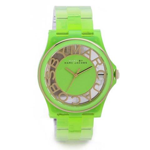 マークバイマークジェイコブス 腕時計 レディース ヘンリースケルトン MBM4569 ミント×ゴールド