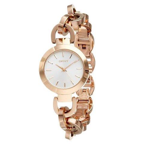 DKNY 腕時計 レディース NY2134 スタンホープ シルバー×ローズゴールド