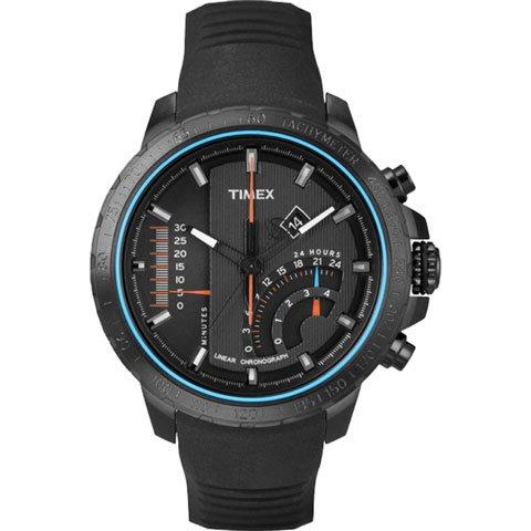 タイメックス 腕時計 リニアインディケーター T2P272 ブラックシリコンベルト