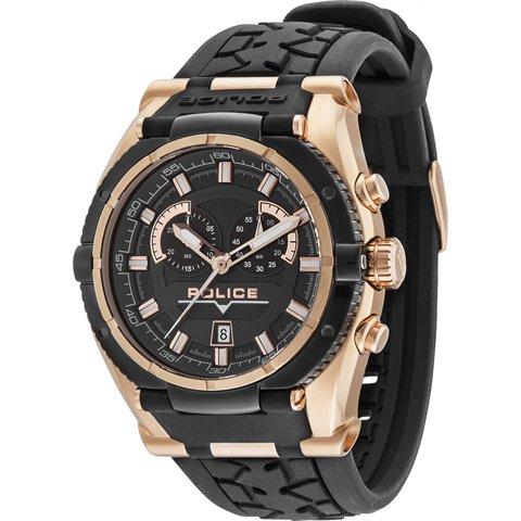 ポリス 腕時計 メンズ ラプター PL14215JSRB/02 ローズゴールド×ブラック