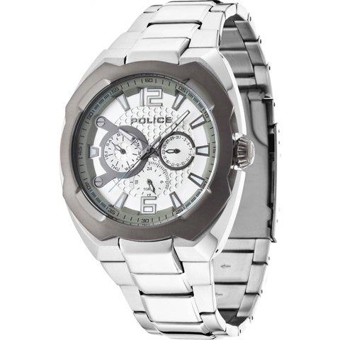 ポリス 腕時計 メンズ マーベリック PL14106JSTU/04M シルバー×グレー×ステンレススチール