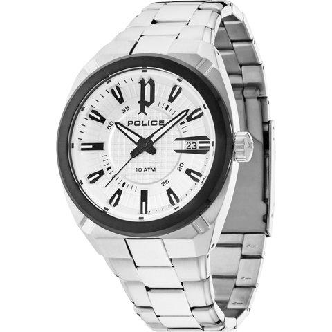 ポリス 腕時計 メンズ チェックポイント PL14101JSTB/04M ホワイト×シルバー