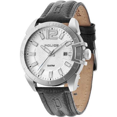 ポリス 腕時計 メンズ ブラケット PL14105JS/04 シルバー×ブラックレザーベルト