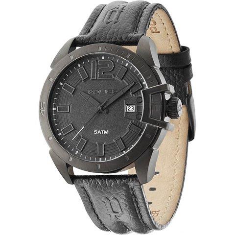 ポリス 腕時計 メンズ ブラケット PL14105JSB/02 ブラック×ブラックレザーベルト