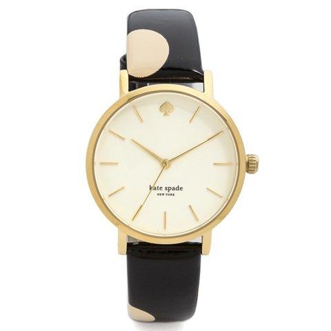 ケイトスペード 腕時計 1YRU0173 メトロ ゴールド×ブラック