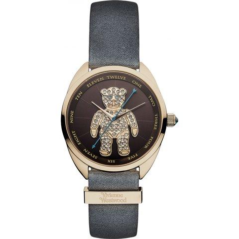ヴィヴィアン・ウエストウッド 腕時計 クレイジーベアー VV103BRGY ブラウン×スワロフスキー