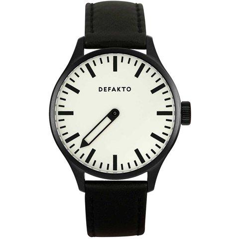 Defakto(ディファクト) 腕時計 アインズ 自動巻き ブラックPVD加工 ホワイト×ブラック
