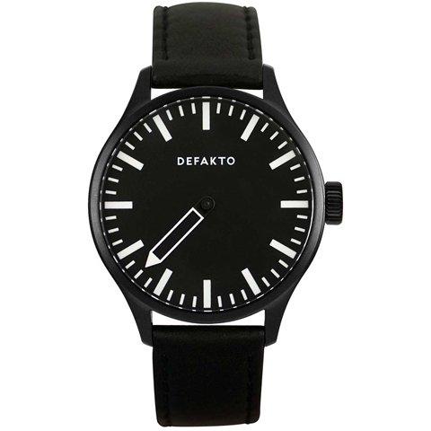 Defakto(ディファクト) 腕時計 アインズ 自動巻き ブラックPVD加工×ブラックステンレススチール