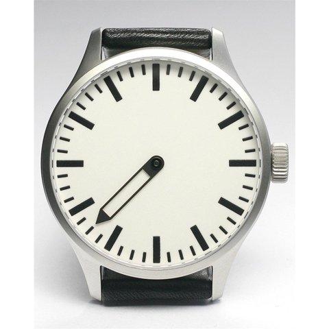Defakto (ディファクト) 腕時計 インコグニト 自動巻き ホワイト×ブラックレザーベルト