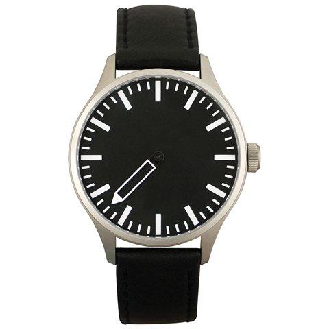 Defakto (ディファクト) 腕時計 インコグニト 自動巻き ブラック×ブラックレザーベルト