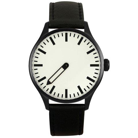 Defakto (ディファクト) 腕時計 インコグニト 自動巻き ホワイト×ブラックステンレススチール
