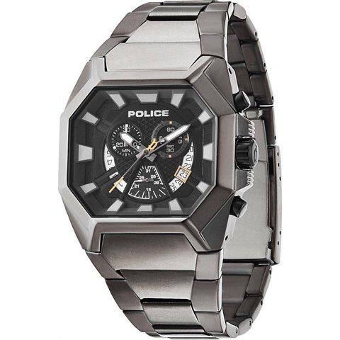ポリス 腕時計 メンズ ハンター PL13837JSU/02M ブラック×カーボンステンレススチール