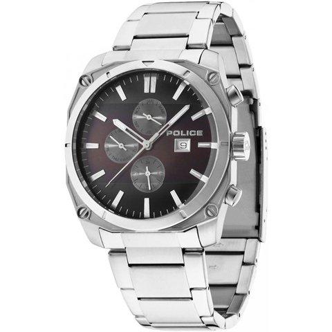 ポリス 腕時計 メンズ ミラノ PL14099JS/12M ダークブラウン×ステンレススチール