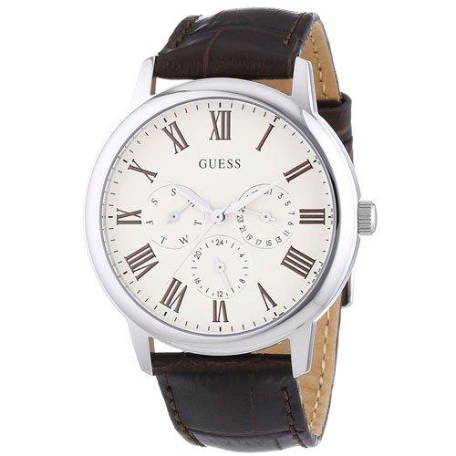 ゲス 腕時計 メンズ ウェハー W70016G2 マットホワイト×ブラウン