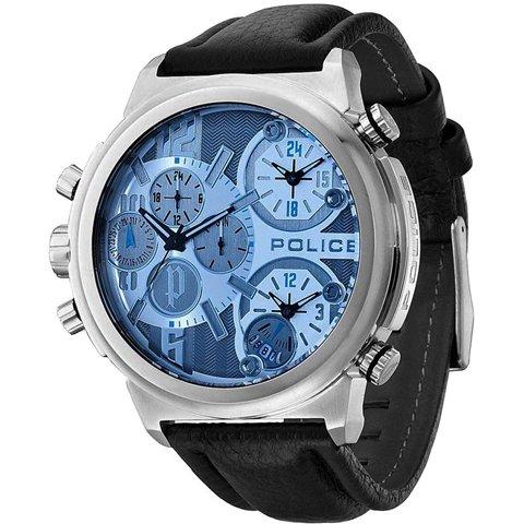 ポリス 腕時計 メンズ パイソン PL13595JSB-13 ブルー×ブラックレザーベルト