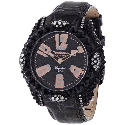 テンデンス 腕時計 クリスタルアート TFC33004 ブラック×ローズゴールド
