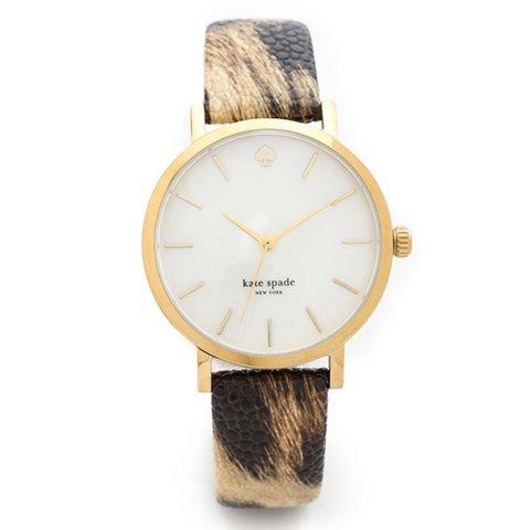 ケイトスペード 腕時計 1YRU0485 メトロ アニマルプリント