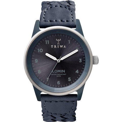 トリワ 腕時計 ロミン LOAC108 モノクローム×ネイビーレザーベルト