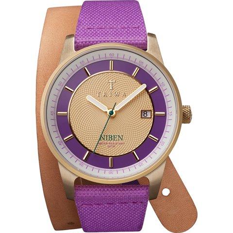 トリワ 腕時計 ニベン ツイスト NIST102TW06 パープル×ゴールド×ダブルストラップ