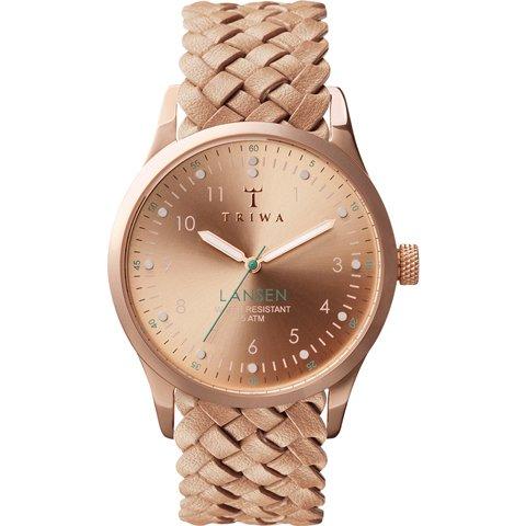 トリワ 腕時計 ランセン LAST101MB01 ローズゴールド×ベージュレザーベルト