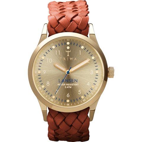 トリワ 腕時計 ランセン LAST108MB01 ゴールド×ブラウンレザーベルト