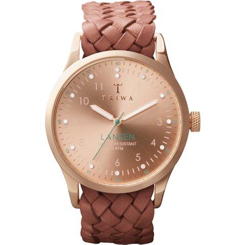 トリワ 腕時計 ランセン LAST101 ローズゴールド×ブラウンレザーベルト