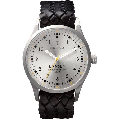 トリワ 腕時計 ランセン LAST102 シルバー×ブラックレザーベルト