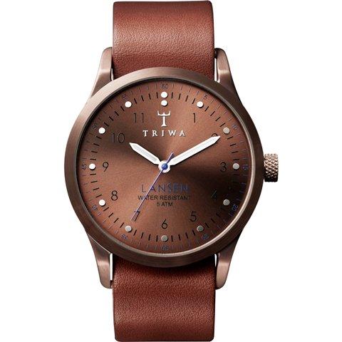 トリワ 腕時計 ランセン LAST104 ブロンズ×ブラウンレザーベルト