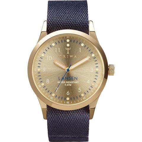 トリワ 腕時計 ランセン LAST108MO06 ゴールド×ネイビーキャンバス×レザーベルト