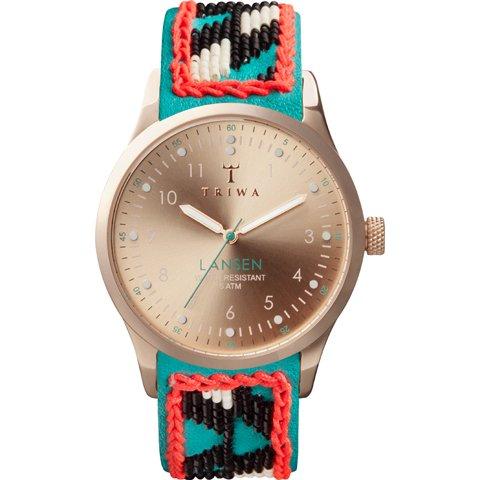 トリワ 腕時計 ランセン LAST105 ローズゴールド×ハンドメイドレザーベルト