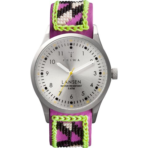 トリワ 腕時計 ランセン LAST106 シルバー×ハンドメイドレザーベルト