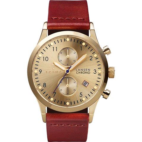 トリワ 腕時計 ランセンクロノ LCST103CL01 ゴールド×ブラウンレザーストラップ