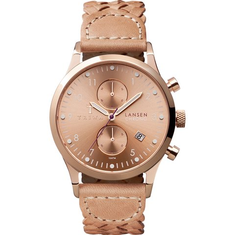 トリワ 腕時計 ランセンクロノ LCST104BD01 ローズゴールド×ベージュレザーストラップ