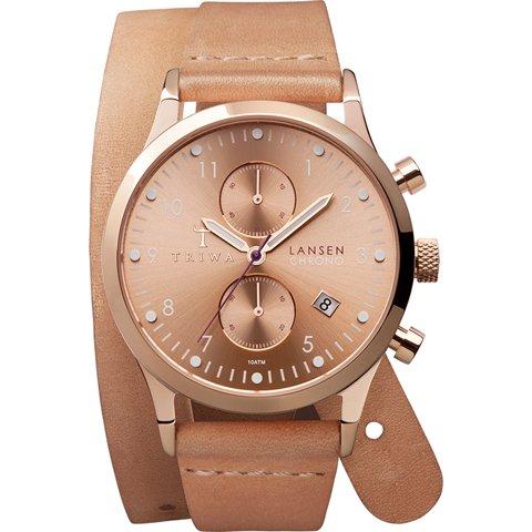 トリワ 腕時計 ランセンクロノ LCST104TW01 ローズゴールド×ベージュダブルストラップ