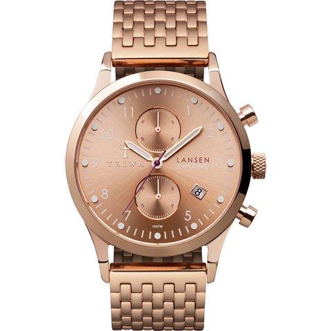 トリワ 腕時計 ランセンクロノ LCST104BR02 ローズゴールド×ステンレススチール