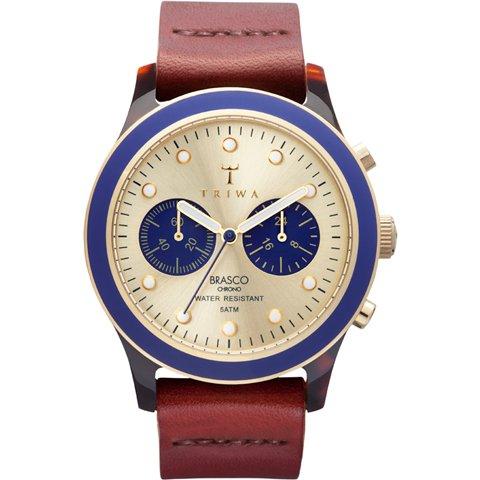 トリワ 腕時計 ブラスコ DCAC112 ゴールド×ブラウンレザーベルト