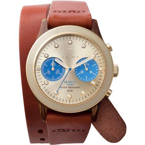 トリワ 腕時計 ブラスコ DCAC103 ゴールド×ブラウンツイストレザーベルト