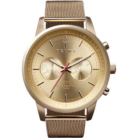 トリワ 腕時計 ネヴィル NEST104 ゴールド×メッシュベルト