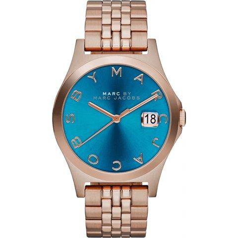 マークバイマークジェイコブス 腕時計 ザ・スリム MBM3318 ディープシー×ローズゴールド