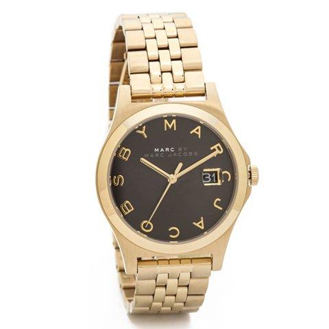 マークバイマークジェイコブス 時計 レディース ザ・スリム MBM3321 ブラック×ゴールド