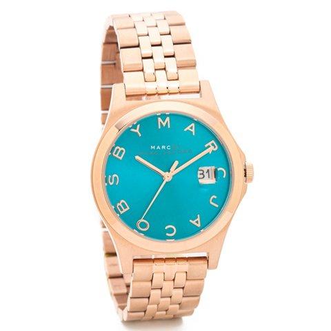 マークバイマークジェイコブス 時計 レディース ザ・スリム MBM3324 ディープシー×ローズゴールド