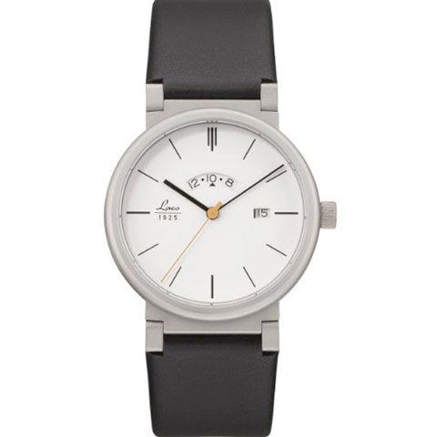ラコ 腕時計 国内正規品 アブソルート クォーツムーブメント 880202 ホワイト×ブラックラバーベルト