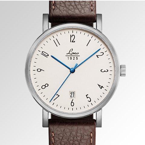 ラコ 腕時計 国内正規品 クラシック 861862 Laco92系自動巻ムーヴメント ブラウンカーフレザーベルト