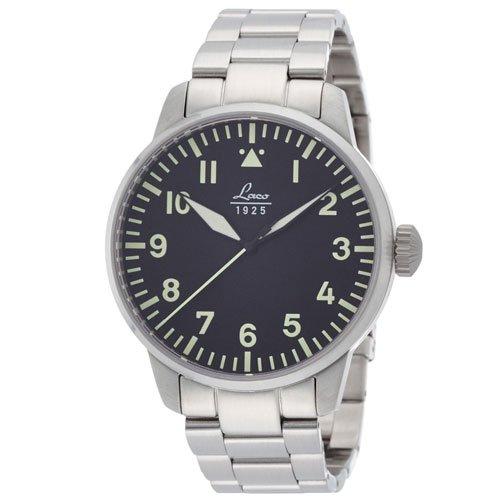 ラコ 腕時計 国内正規品 Rom 861895 Laco21系自動巻シリーズ ブラック×ステンレススチールベルト