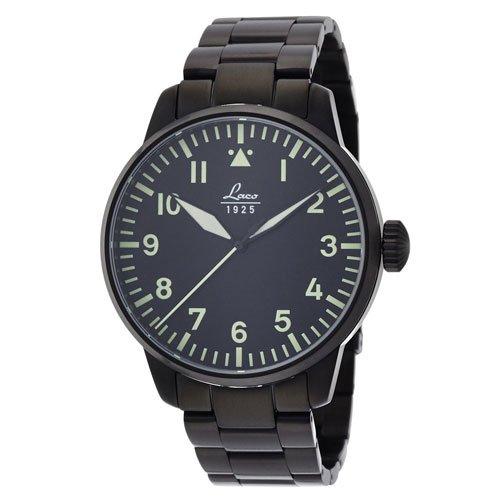 ラコ 腕時計 国内正規品 メルボルン 861899 Laco21系自動巻 ブラック×ブラックステンレススチールベルト